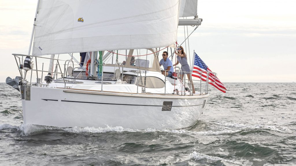 David and Peggy Sailing the H48 in the 2019 Salty Dawg Rally
